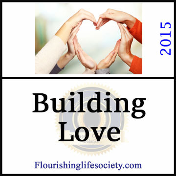 Internal Link. Building Love: Love is created not found. We naturally are attracted; but from attraction we build lasting love.