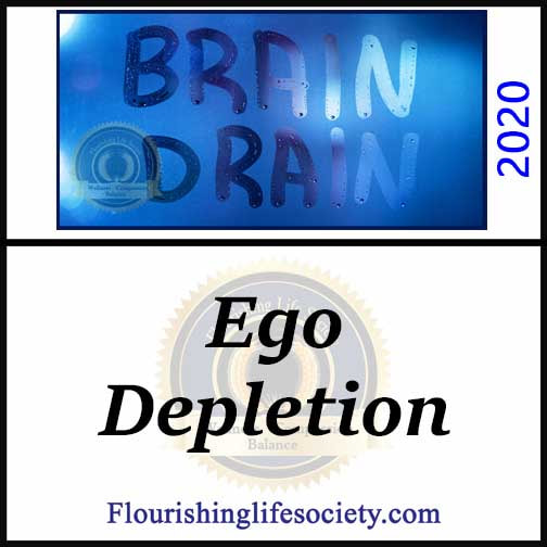 Flourishing Life Society Link. Ego Depletion. The strength model of self-control