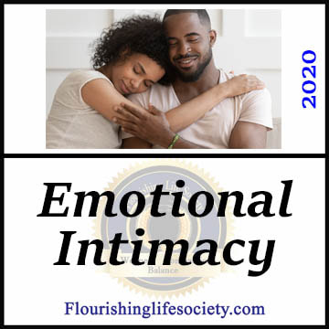 FLS link: Emotional Intimacy | Creating Space for sharing. A psychological battle of opposing needs requires purposeful effort to meet both safety and belonging needs.