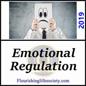 FLS link-- Emotional Regulation: Emotions energize and push for action. Healthy regulation capitalizes on the richness of emotion and directs the energy towards life objectives.