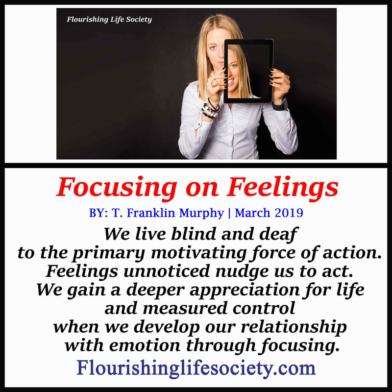 We live blind and deaf to the primary motivating force of action. Feelings unnoticed nudge us to act. We gain a deeper appreciation for life and measured control when we develop our relationship with emotion through focusing.