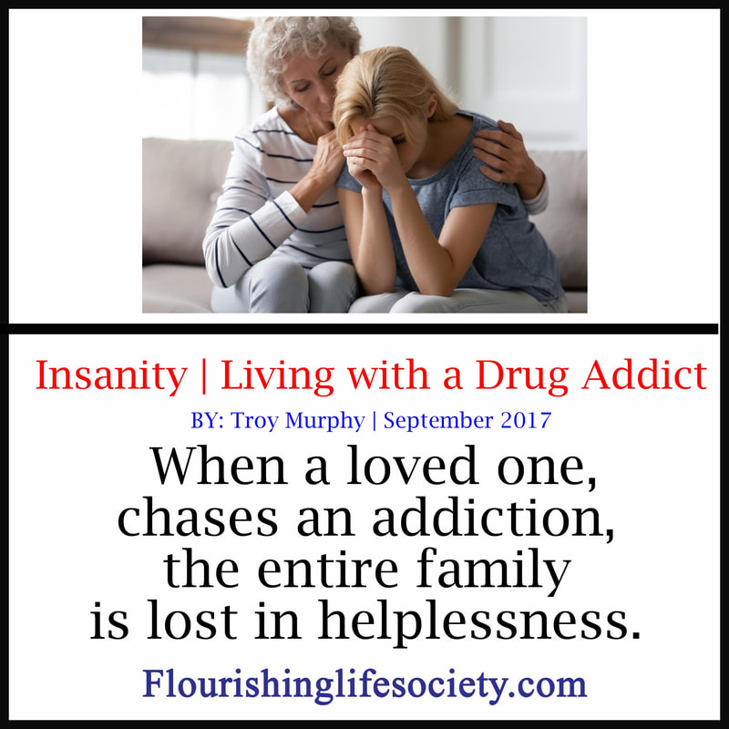 FLS Link. Insanity: Living with Addiction. Often families get lost in the battle over addiction. A loved one, for whatever reason, has succumb to chemical escapes. Lost in helplessness, and engaged in illogical arguments, the whole family loses their sanity.