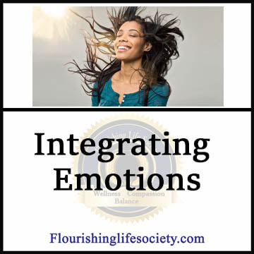 Achieving the most from the wisdom of emotions requires purposeful effort to integrate emotions into our larger concepts of self.