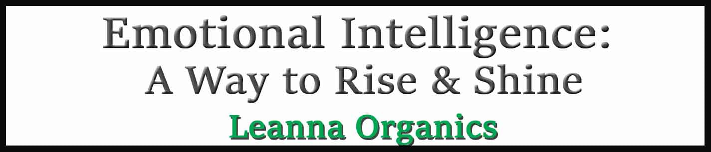 External Link. Leanna Organics. Emotional Intelligence is Here For All of Us.  A Way to Rise and Shine
