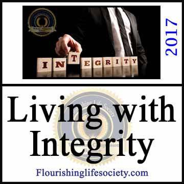 Living with Integrity. Flourishing by Maintaining Personal Boundaries. A Flourishing Life Society article link