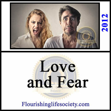 Flourishing Life Society article on Love and Fear