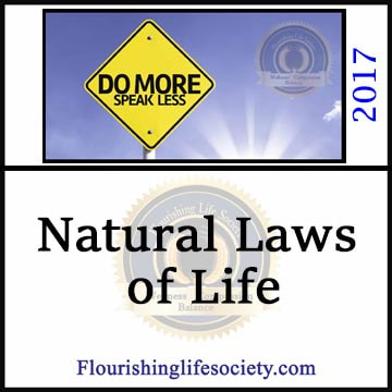 Life is governed by laws. Many actions involve several laws competing fro dominance.