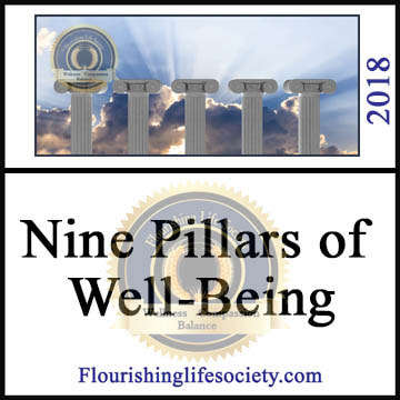 Flourishing Life Society article link. Nine Pillars of well-being