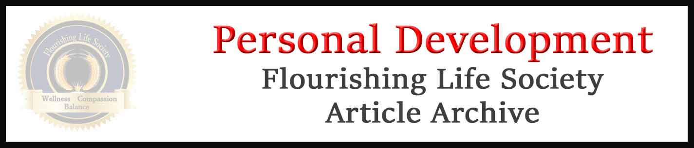 Banner link to Flourishing Life Society's Personal development articles