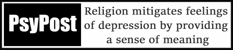 External Link. Religion mitigates feelings of depression by providing a sense of meaning
