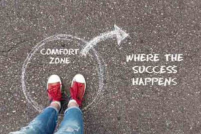 Image about leaving comfort zone. Flourishing Life Society article on success