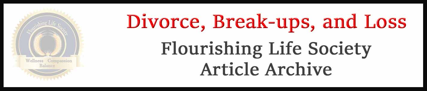 Banner link to Flourishing Life Society's relationship endings articles