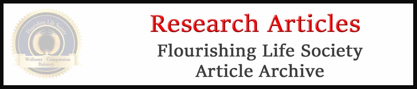 Flourishing Life Society Link to research articles