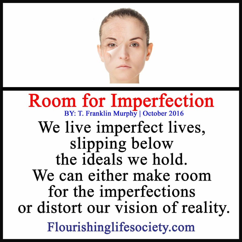 Link: We live imperfect lives, slipping below the ideals we hold. We can either make room for the imperfections or distort our vision of reality.