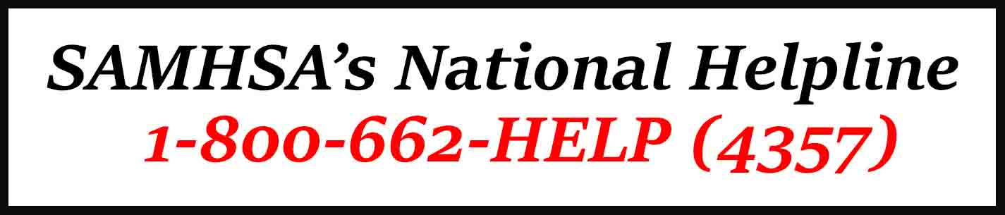 SAMHSA's National Helpline 1-800-662-4357