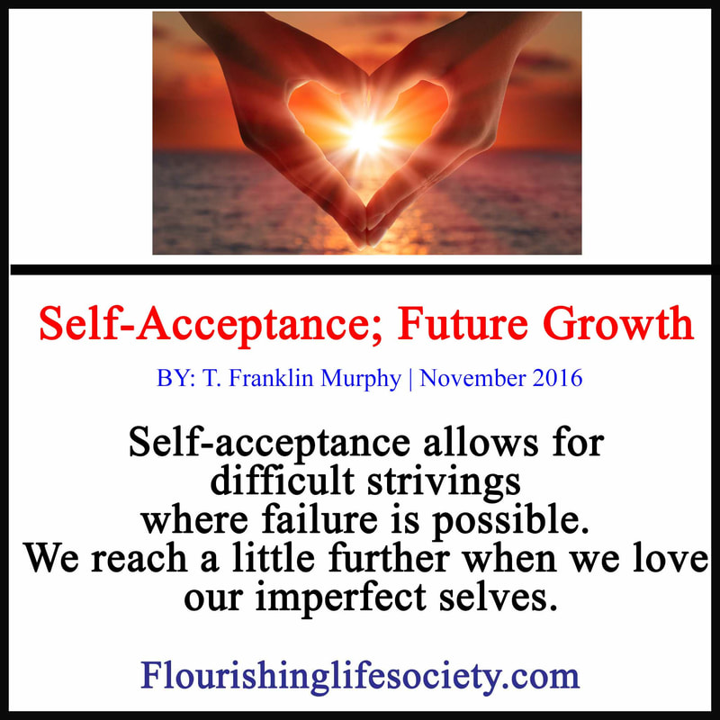 Self-acceptance allows for difficult strivings where failure is possible. We reach a little further when we love our imperfect selves.