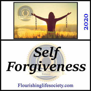 FLS Link. Self-forgiveness: Genuine self-forgiveness is a process of accepting responsibility, working through the emotions, repairing damage, and recommitting to values.