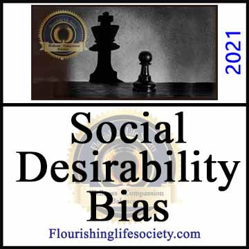 Flourishing Life Society article link for Social Desirability Bias