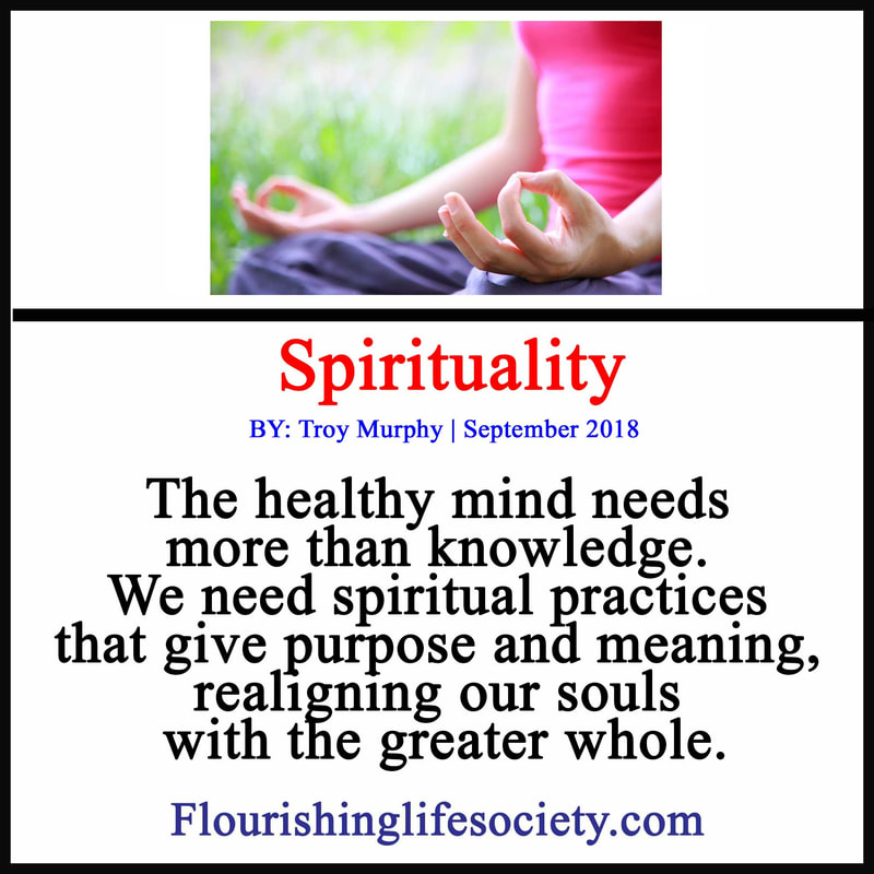 The healthy mind needs more than knowledge. We need spiritual practices that give purpose and meaning, realigning our souls with the greater whole.
