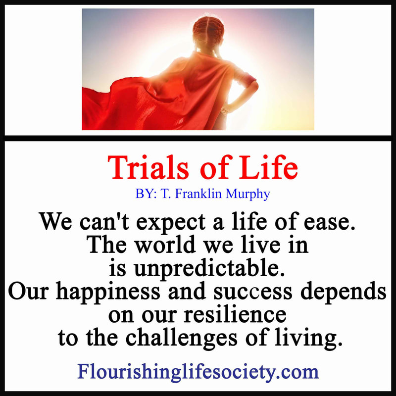 Link: We can't expect a life of ease. The world we live in is unpredictable. Our happiness and success depends on our resilience to the challenges of living.