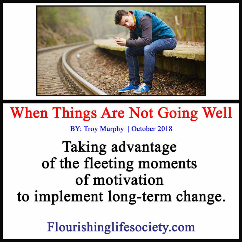 Taking advantage of the fleeting moments of motivation to implement long-term change.